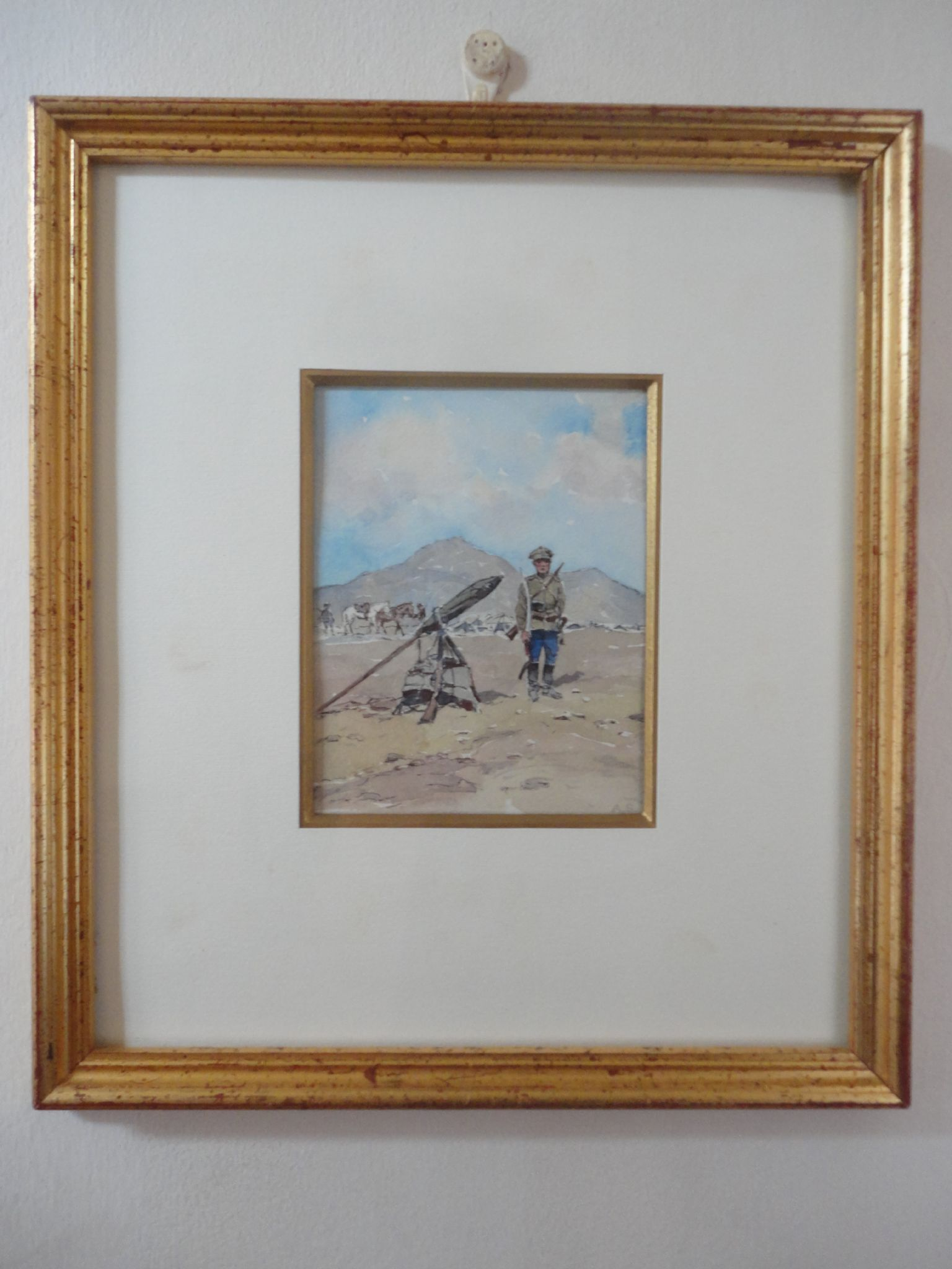 Arkady Stolypin - Antique Russian Civil War Watercolour White Army Officer